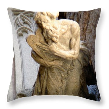 Keep Me Safe With Faith Throw Pillow