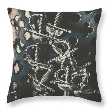 Keep Of A Royal Armoury Throw Pillow