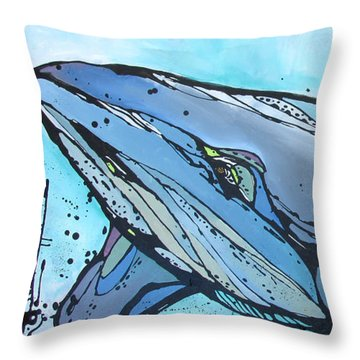 Keep Swimming Throw Pillow