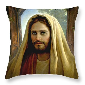 Throw Pillow featuring the painting Keeper Of The Gate by Greg Olsen