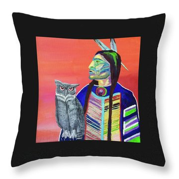 Keeper Of The Night Throw Pillow by Brenda Pressnall