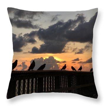 Keeper Of The Pier Throw Pillow
