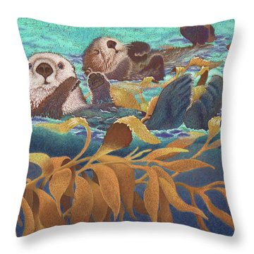 Keepers Of The Kelp Throw Pillow by Tracy L Teeter