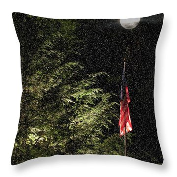 Keeping America  Illuminated.  Throw Pillow