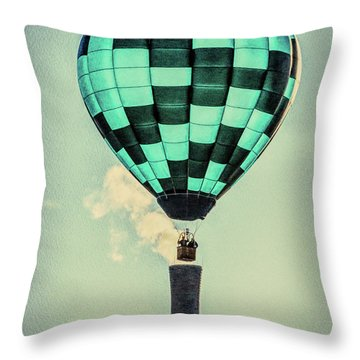 Keeping Warm As You Float Throw Pillow by Bob Orsillo