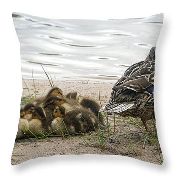Throw Pillow featuring the photograph Keeping Watch by Angie Rea
