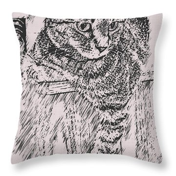 Keeping Watch Throw Pillow by David G Paul