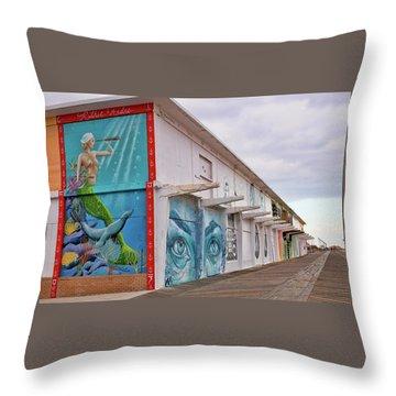 Keeping Watch In Asbury Park Throw Pillow