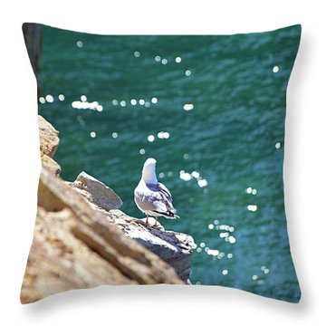 Throw Pillow featuring the photograph Keeping Watch by SimplyCMB