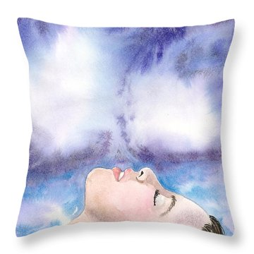 Keeping Your Head Above Water Throw Pillow