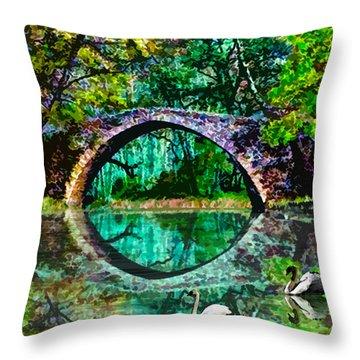 Kefalos Bridge Cyprus Throw Pillow