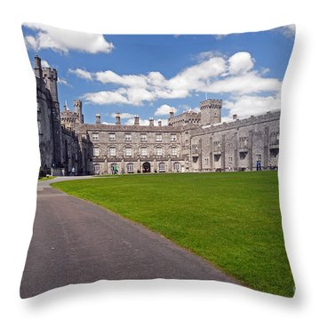 Kilkenny Castle  Throw Pillow by Cindy Murphy - NightVisions