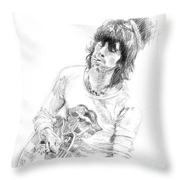 Keith Richards Exile Throw Pillow