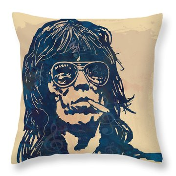 Mick Jagger And Keith Richards Throw Pillows