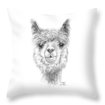 Throw Pillow featuring the drawing Kellea by K Llamas