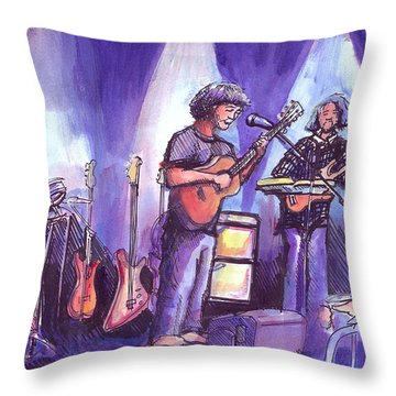 Keller And His Compadres Throw Pillow by David Sockrider