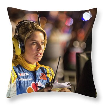 Kelli Stavast Reporting Throw Pillow