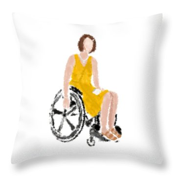 Throw Pillow featuring the digital art Kelly by Nancy Levan