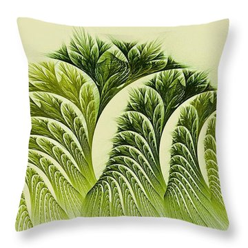 Kelp Towers Of The Fractal Sea Throw Pillow