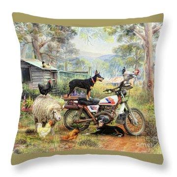 Kelpie Karetakers Throw Pillow