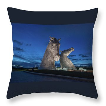 Kelpies  Throw Pillow by Terry Cosgrave