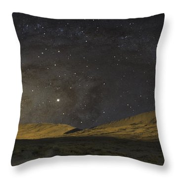 Throw Pillow featuring the photograph Kelso Dunes One by Kevin Blackburn