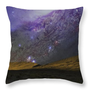 Throw Pillow featuring the photograph Kelso Dunes Two by Kevin Blackburn