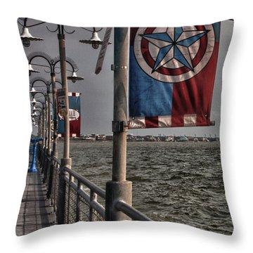 Kemah Boardwalk Throw Pillow