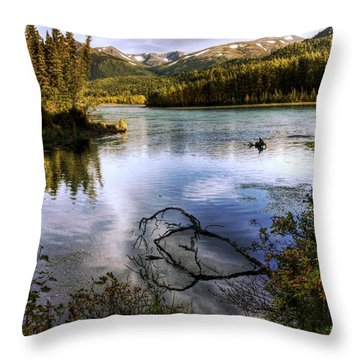 Kenai River In Fall Throw Pillow