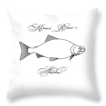 Kenai Sockeye Alaska Throw Pillow