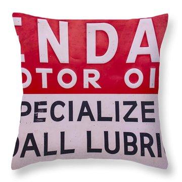 Kendall Motor Oils Sign Throw Pillow