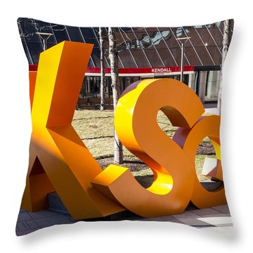 Kendall Square Sign Cambridge Ma Throw Pillow