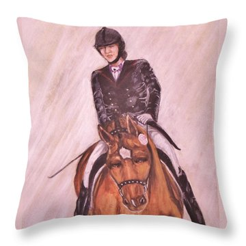 Kendle And Contesse Competing Throw Pillow