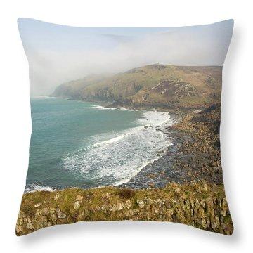 Kenidjack Castle Throw Pillow