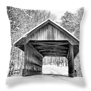 Keniston Covered Bridge  Throw Pillow
