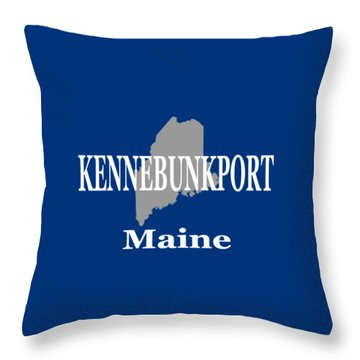 Throw Pillow featuring the photograph Kennebunk Maine State City And Town Pride  by Keith Webber Jr