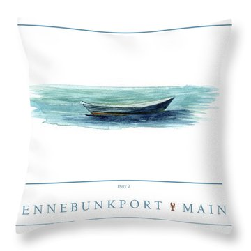Kennebunkport Dory 2 Throw Pillow