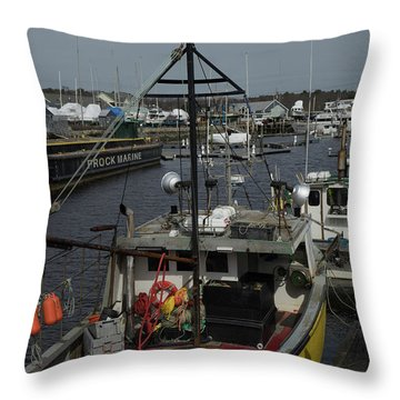 Kennebunkport Harbor In Early Winter Throw Pillow