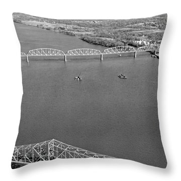 Kennedy Bridge Construction Throw Pillow