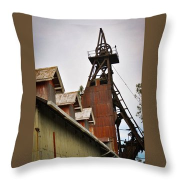 Kennedy Mine Headframe Throw Pillow