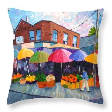 Kensington Market Throw Pillow by Diane Arlitt