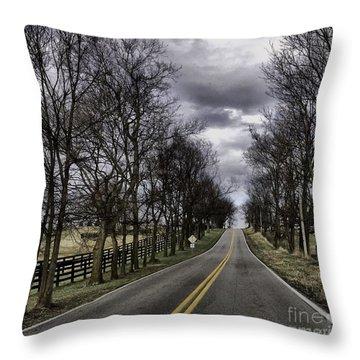 Kentucky Backroads Throw Pillow