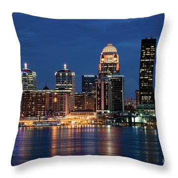 Kentucky Blue Throw Pillow