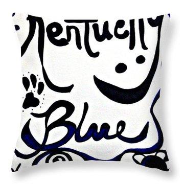 Kentucky Blue Throw Pillow