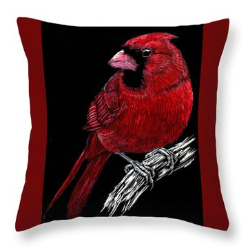 Kentucky Cardinal Throw Pillow
