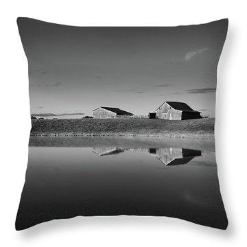 Kentucky Farm Pond Throw Pillow by Keith Bridgman