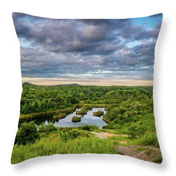 Kentucky Hills And Lake Throw Pillow
