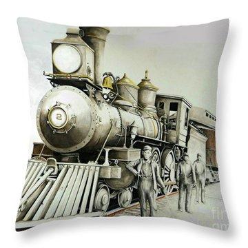 Kentucky Iron Horse Throw Pillow