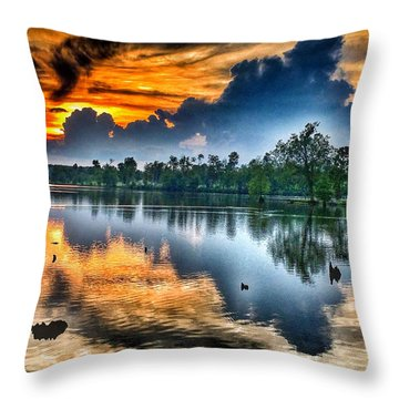 Kentucky Sunset June 2016 Throw Pillow