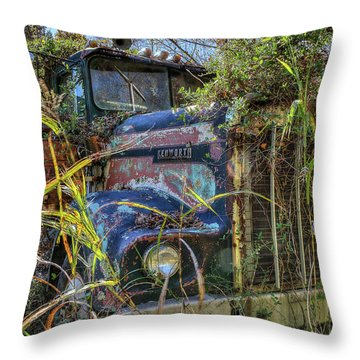 Kenworth In The Weeds Throw Pillow
